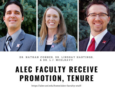 ALEC Faculty to Receive Promotion & Tenure