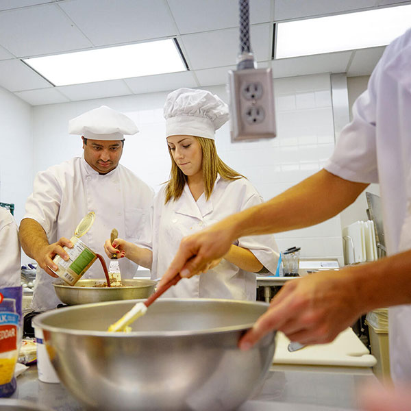Student Chefs preparing food