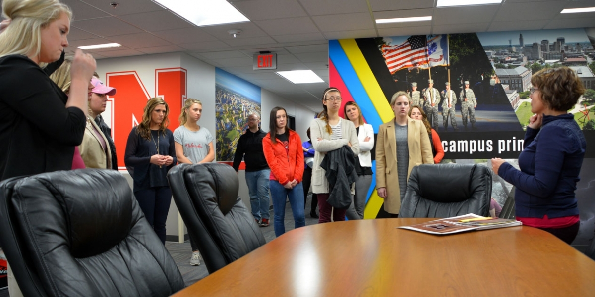 AESC students learning about printing services