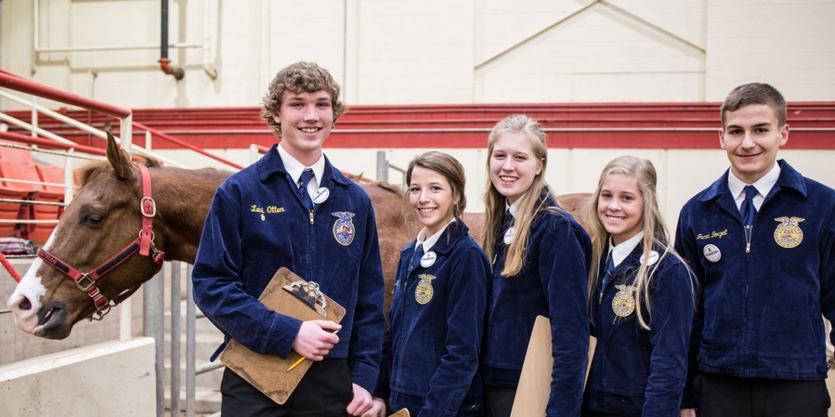 FFA students at CDE